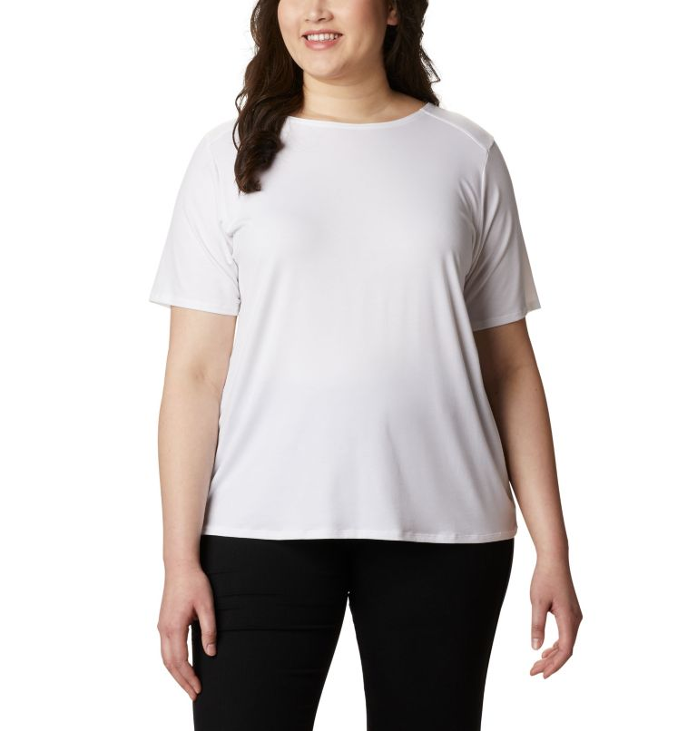 Women's Essential Elements™ Short Sleeve Shirt – Plus Size Women's Essential Elements™ Short Sleeve Shirt – Plus Size, front