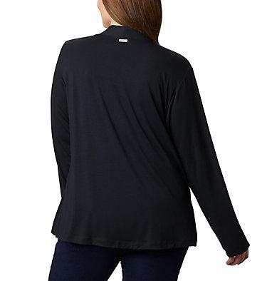 Women's Essential Elements™ Cardigan – Plus Size Essential Elements™ Cardigan | 100 | 2X, Black, back