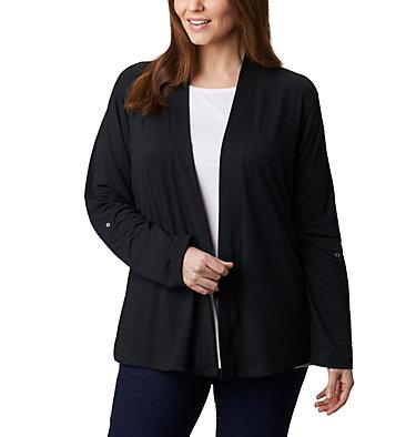 Women's Essential Elements™ Cardigan – Plus Size Essential Elements™ Cardigan | 100 | 2X, Black, front