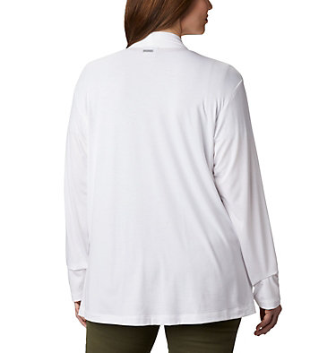 Women's Essential Elements™ Cardigan – Plus Size Essential Elements™ Cardigan | 100 | 2X, White, back