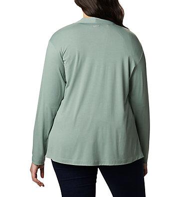 Women's Essential Elements™ Cardigan – Plus Size Essential Elements™ Cardigan | 100 | 2X, Light Lichen, back