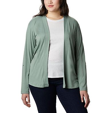 Women's Essential Elements™ Cardigan – Plus Size Essential Elements™ Cardigan | 100 | 2X, Light Lichen, front