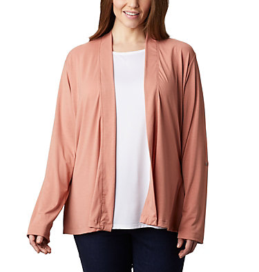 Women's Essential Elements™ Cardigan – Plus Size Essential Elements™ Cardigan | 100 | 2X, Cedar Blush, front