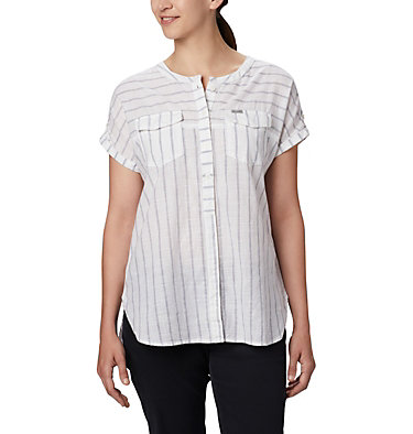 Women's Camp Henry™ Relaxed Shirt Camp Henry™ Relaxed Shirt   556   S, White Stripe, front