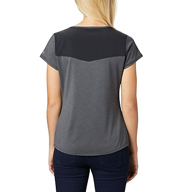 T-shirt à manches courtes Place To Place™ II pour femme Place To Place™ II SS Tee | 556 | M, Black Heather, back