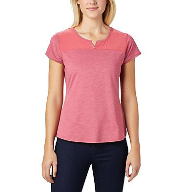 T-shirt à manches courtes Place To Place™ II pour femme Place To Place™ II SS Tee | 556 | M, Rouge Pink Heather, front