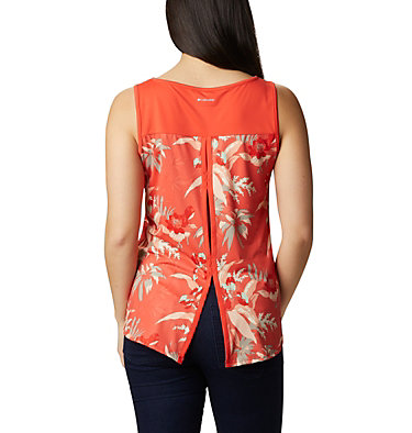 Women's Chill River™ Tank Chill River™ Tank | 467 | L, Bright Poppy, Magnolia Print, back