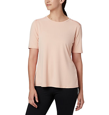 Women's Chill River™ Short Sleeve Shirt Chill River™ SS | 466 | M, Peach Cloud, Print, front