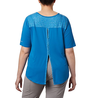 Women's Chill River™ Short Sleeve Shirt – Plus Size Chill River™ SS | 466 | 1X, Dark Pool, Print, back