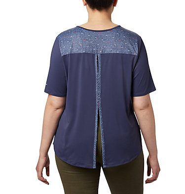 Women's Chill River™ Short Sleeve Shirt – Plus Size Chill River™ SS | 466 | 1X, Nocturnal, Print, back