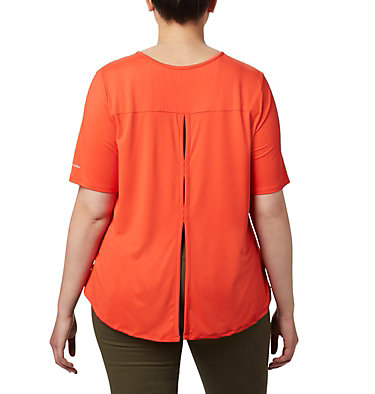 Women's Chill River™ Short Sleeve Shirt – Plus Size Chill River™ SS | 466 | 1X, Bright Poppy, back