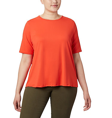 Women's Chill River™ Short Sleeve Shirt – Plus Size Chill River™ SS | 466 | 1X, Bright Poppy, front