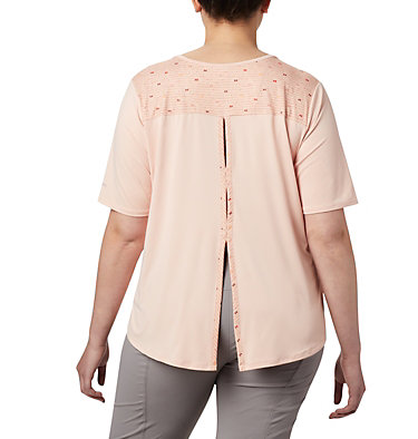 Women's Chill River™ Short Sleeve Shirt – Plus Size Chill River™ SS | 466 | 1X, Peach Cloud, Print, back