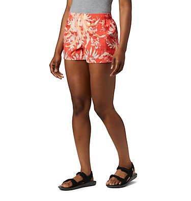 Women's Sandy River™ II Printed Shorts Sandy River™ II Printed Short | 466 | S, Bright Poppy Magnolia Print, front