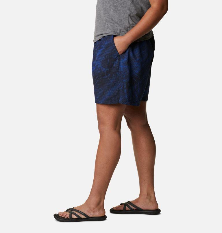 Sandy River™ II Printed Short | 410 | 1X Women's Sandy River™ II Printed Shorts - Plus Size, Lapis Blue Tonal Sunburst Print, a1