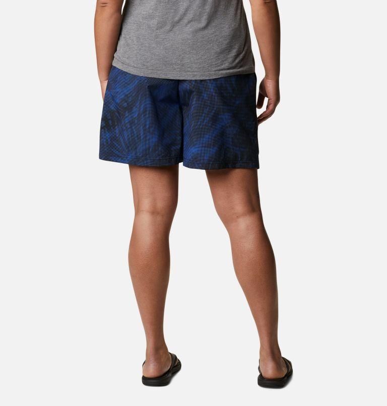 Sandy River™ II Printed Short | 410 | 1X Women's Sandy River™ II Printed Shorts - Plus Size, Lapis Blue Tonal Sunburst Print, back