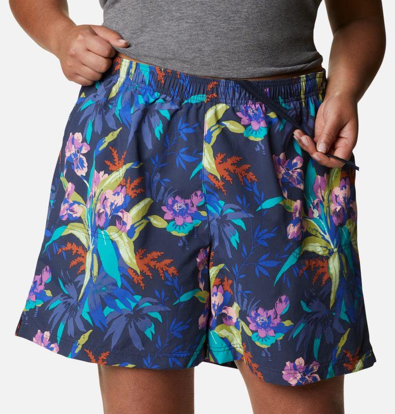 Sandy River™ II Printed Short | 411 | 1X Women's Sandy River™ II Printed Shorts - Plus Size, Lapis Blue, Magnolia Print, a2