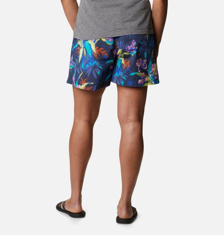 Sandy River™ II Printed Short | 411 | 1X Women's Sandy River™ II Printed Shorts - Plus Size, Lapis Blue, Magnolia Print, back