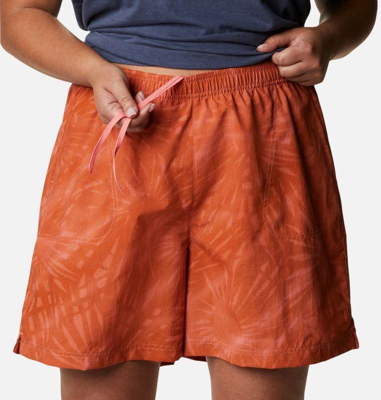 Sandy River™ II Printed Short | 699 | 1X Women's Sandy River™ II Printed Shorts - Plus Size, Salmon Tonal Sunburst Print, a2
