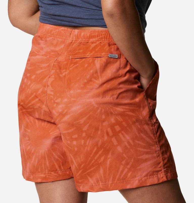 Sandy River™ II Printed Short | 699 | 1X Women's Sandy River™ II Printed Shorts - Plus Size, Salmon Tonal Sunburst Print, a3