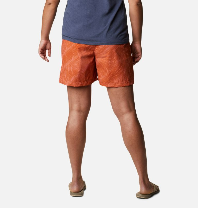 Sandy River™ II Printed Short | 699 | 1X Women's Sandy River™ II Printed Shorts - Plus Size, Salmon Tonal Sunburst Print, back