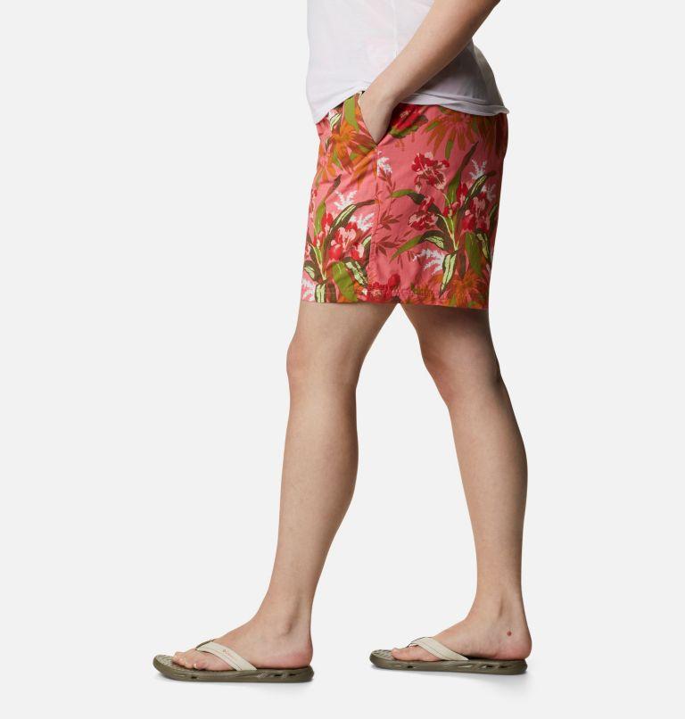 Sandy River™ II Printed Short | 701 | 1X Women's Sandy River™ II Printed Shorts - Plus Size, Salmon, Magnolia Print, a1