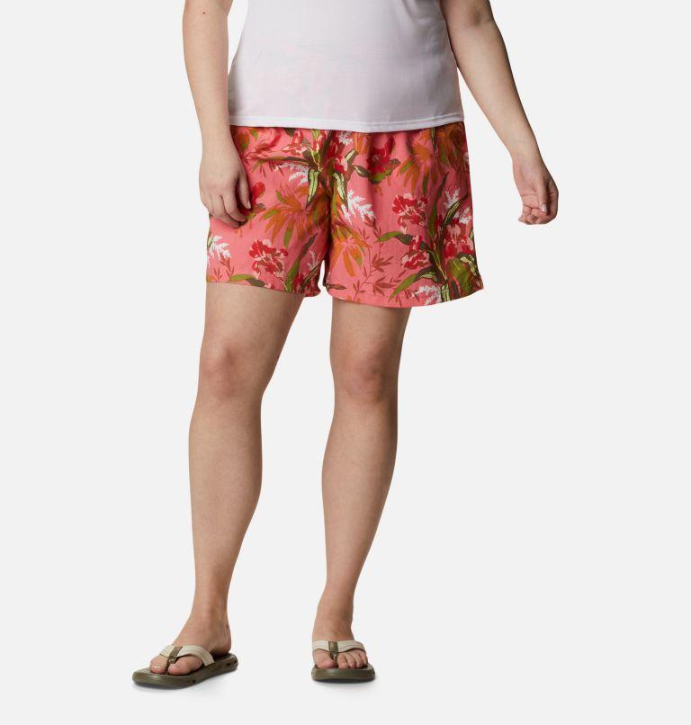 Sandy River™ II Printed Short | 701 | 1X Women's Sandy River™ II Printed Shorts - Plus Size, Salmon, Magnolia Print, front