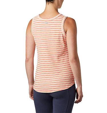 Women's Longer Days™ Tank Top Longer Days™ Tank | 031 | XS, Peach Cloud Stripe, back