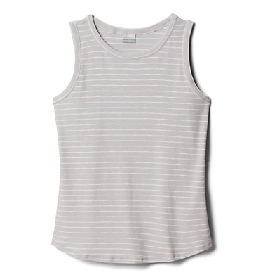 Camisole Longer Days™ pour femme – Grandes tailles Longer Days™ Tank | 870 | 1X, Cirrus Grey Stripe, front
