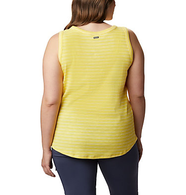 Camisole Longer Days™ pour femme – Grandes tailles Longer Days™ Tank | 870 | 1X, Buttercup Stripe, back