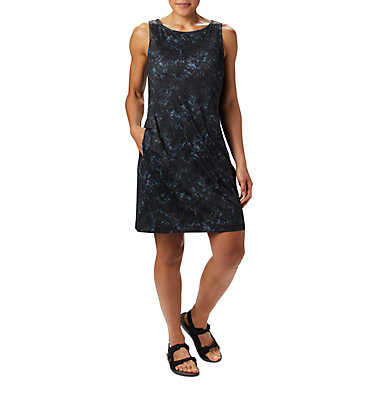 Robe imprimée Chill River™ pour femme Chill River™ Printed Dress | 010 | L, Black Rubbed Texture Print, front