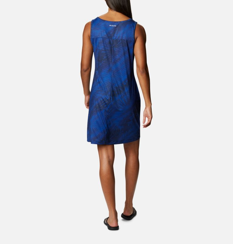 Chill River™ Printed Dress   410   S Robe imprimée Chill River™ pour femme, Lapis Blue Tonal Sunburst Print, back