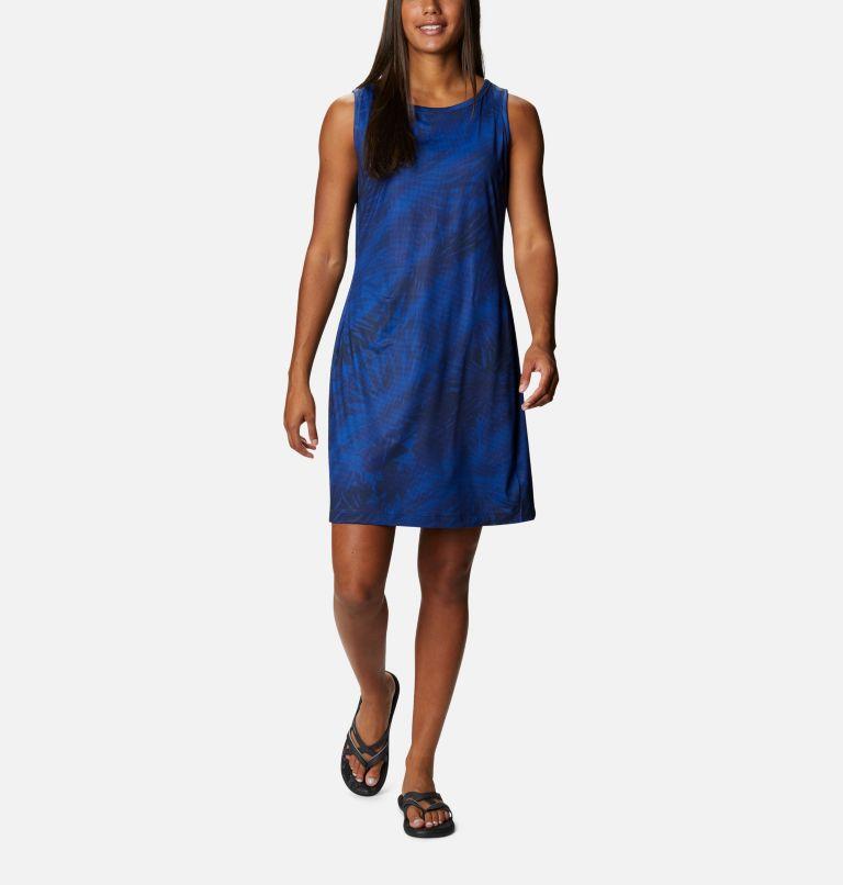 Chill River™ Printed Dress   410   S Robe imprimée Chill River™ pour femme, Lapis Blue Tonal Sunburst Print, front