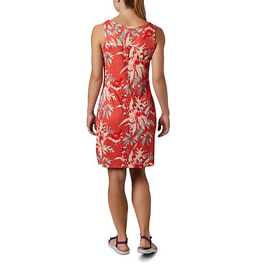 Women's Chill River™ Printed Dress Chill River™ Printed Dress | 556 | L, Bright Poppy Magnolia Print, back