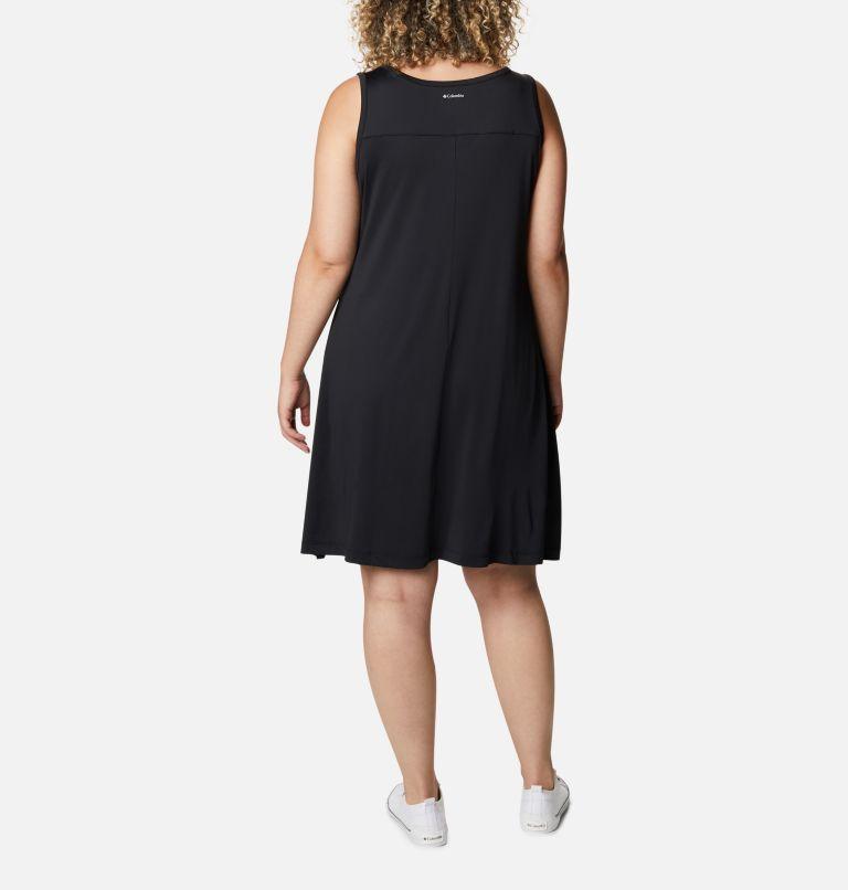 Chill River™ Printed Dress   011   3X Women's Chill River™ Printed Dress - Plus Size, Black, back
