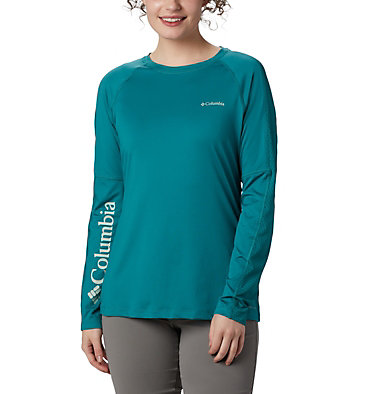 Women's Windgates™ Long Sleeve T-Shirt Windgates™ LS Tee | 340 | L, Waterfall, front