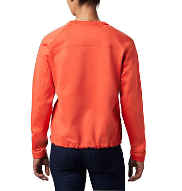 Women's Windgates™ Fleece Sweatshirt Windgates™ Fleece Crew | 847 | L, Bright Poppy, back