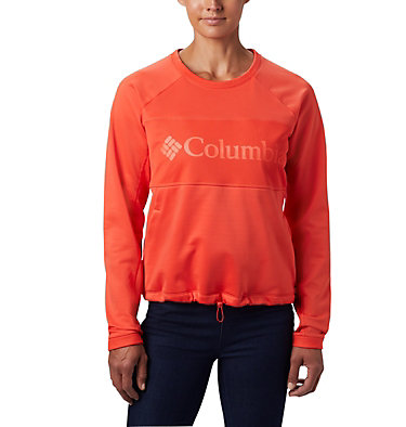 Women's Windgates™ Fleece Sweatshirt Windgates™ Fleece Crew | 847 | L, Bright Poppy, front