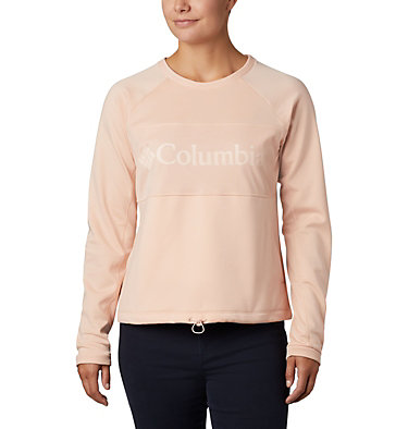 Polar de cuello redondo Windgates™ para mujer Windgates™ Fleece Crew | 847 | L, Peach Cloud, front