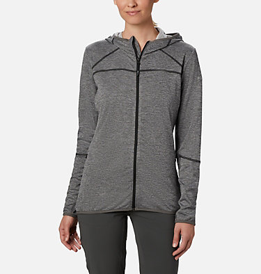 Women's Baker Valley™ Hooded Lightweight Fleece Jacket Baker Valley™ Hooded Fleece | 340 | L, Black Heather, front