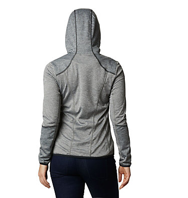Women's Baker Valley™ Hooded Lightweight Fleece Jacket Baker Valley™ Hooded Fleece | 340 | L, Charcoal Heather, Black Heather, back