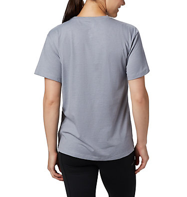 Women's Columbia Park™ Relaxed Tee Columbia Park™ Relaxed Tee | 010 | L, Tradewinds Grey Heather, back