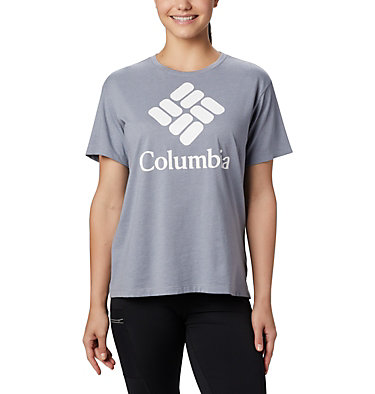 Women's Columbia Park™ Relaxed Tee Columbia Park™ Relaxed Tee | 010 | L, Tradewinds Grey Heather, front