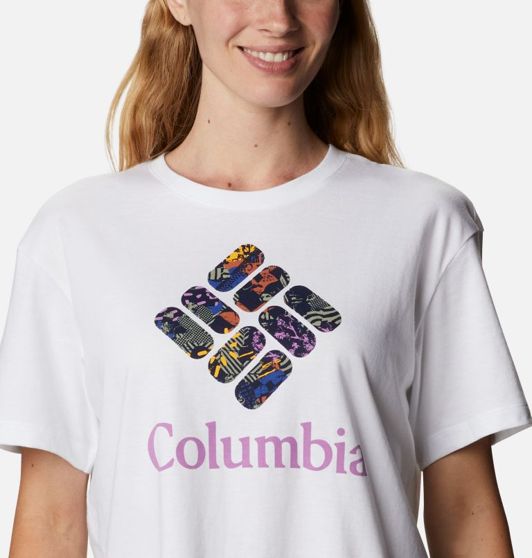 Columbia Park™ Relaxed Tee | 101 | XXL Women's Columbia Park™ Relaxed Tee, White, CGC Print Fill, a2