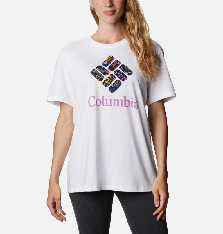 Columbia Park™ Relaxed Tee | 101 | XXL Women's Columbia Park™ Relaxed Tee, White, CGC Print Fill, front