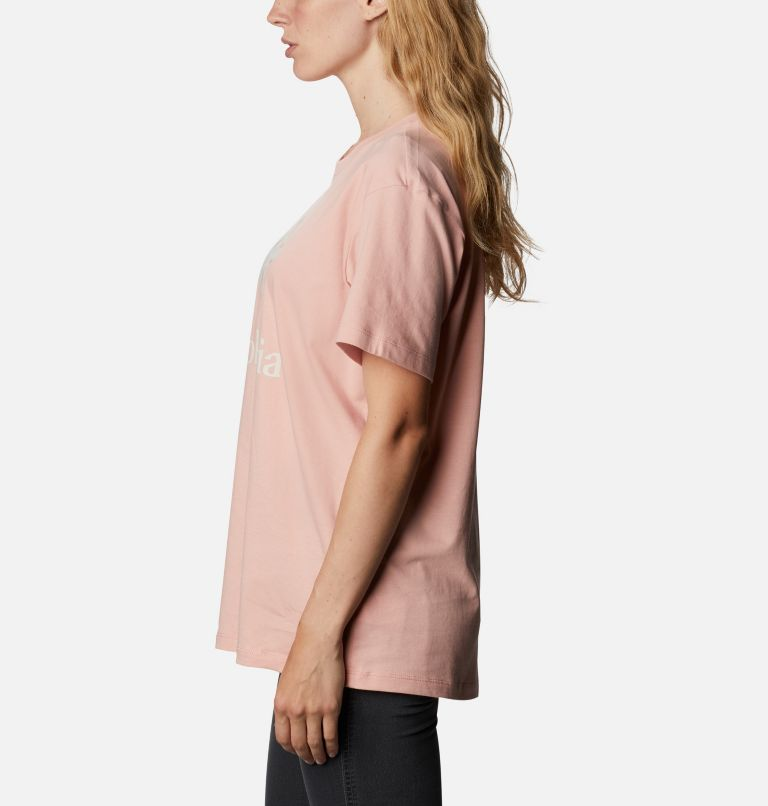 Columbia Park™ Relaxed Tee | 672 | M Women's Columbia Park™ Relaxed Tee, Faux Pink, Aqua Tone Camo Fill, a1
