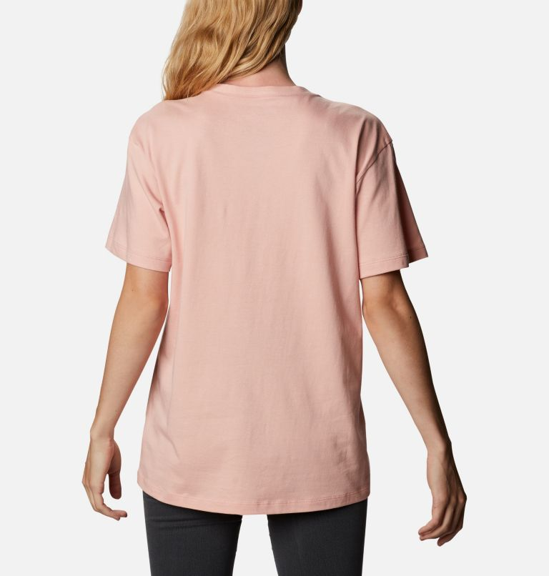 Columbia Park™ Relaxed Tee | 672 | M Women's Columbia Park™ Relaxed Tee, Faux Pink, Aqua Tone Camo Fill, back