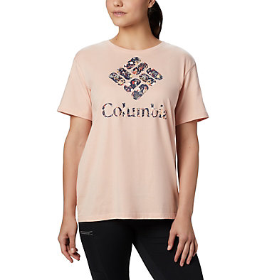 Women's Columbia Park™ Relaxed Tee Columbia Park™ Relaxed Tee | 010 | L, Peach Cloud, Birds N Branches, front
