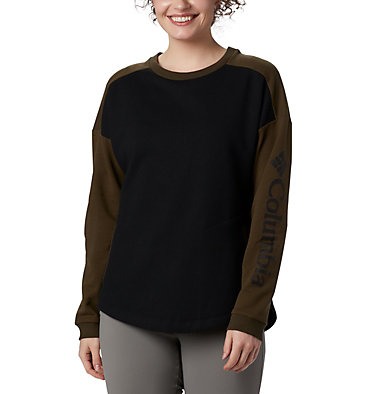 Women's Columbia Lodge™ II Crew Columbia Lodge™ II Crew | 870 | L, Black, Olive Green, front