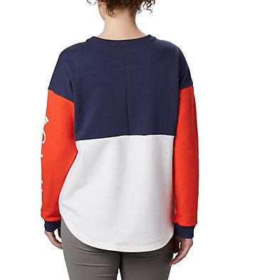 Women's Columbia Lodge™ II Crew Columbia Lodge™ II Crew | 870 | L, White, Bright Poppy, Nocturnal, back